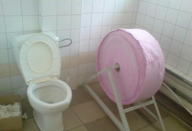 Фото прикол  про туалетную бумагу