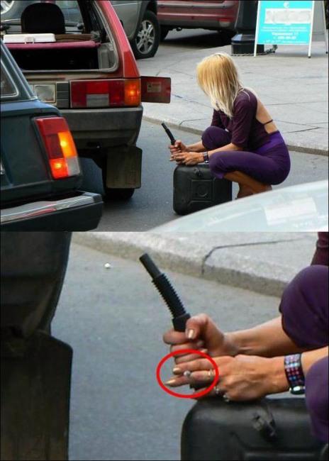Фото прикол  про женщин за рулем
