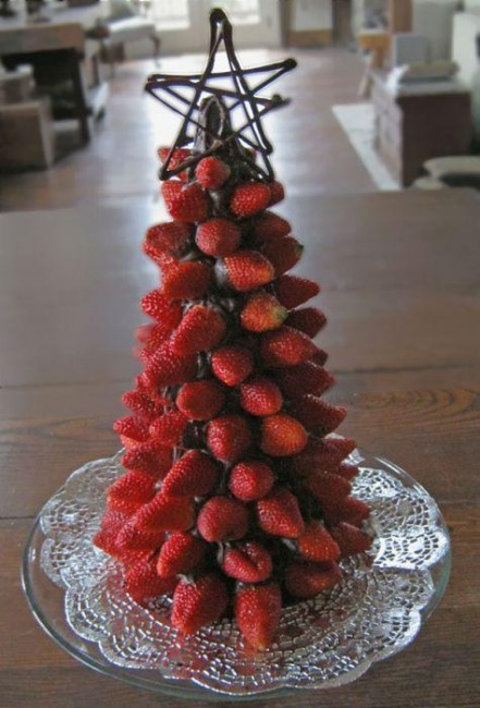 Фото прикол  про клубнику и новый год
