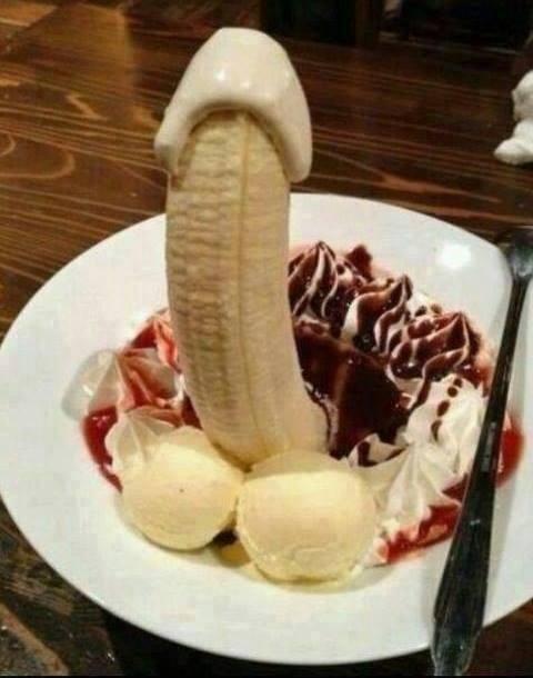 Фото прикол  про банан пошлый