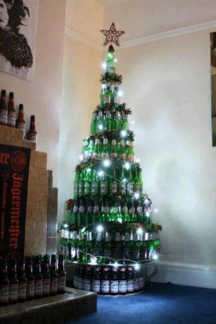 Фото прикол  про пиво и ёлку