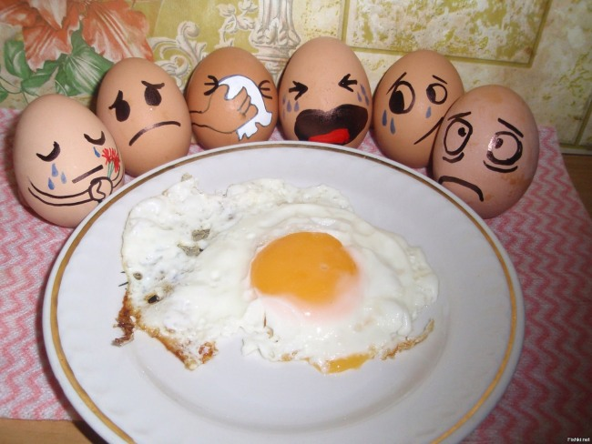 Фото прикол  про яйца