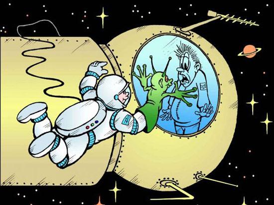 Картинка  про космонавтов