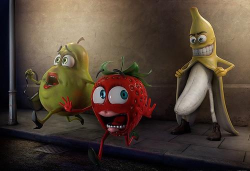Картинка  про банан пошлая