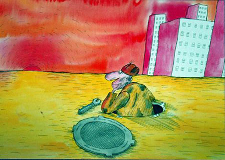 Картинка  про сантехников