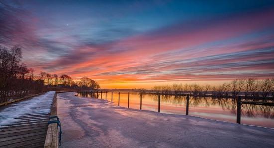 Фото прикол  про закат и зиму
