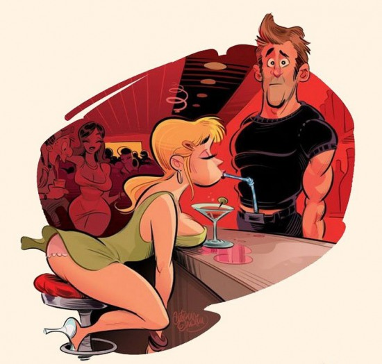 Картинка  про бар пошлая