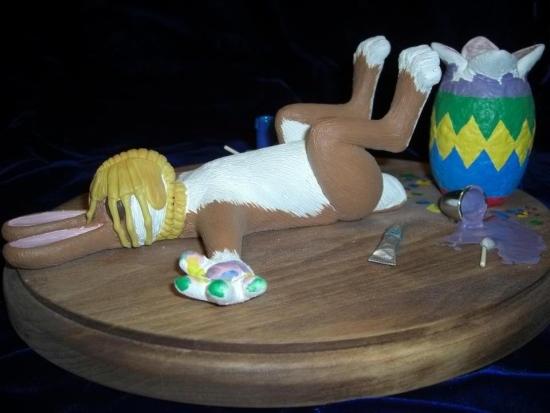 Фото прикол  про зайцев черный