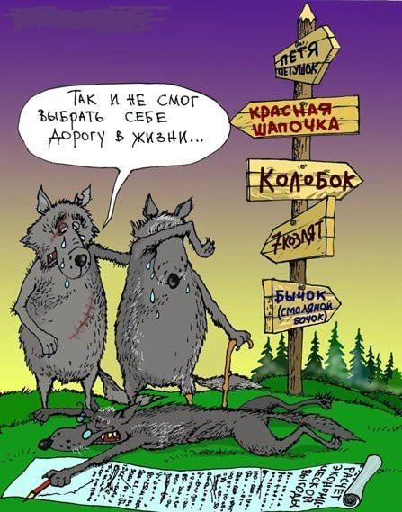 Картинка  про серого волка