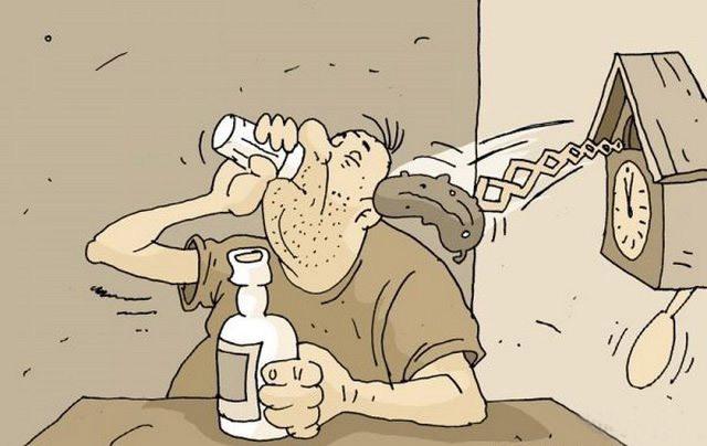 Картинка  про алкоголиков и огурцы