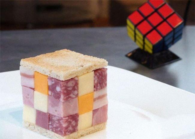 Фото прикол  про кубик рубика и еду