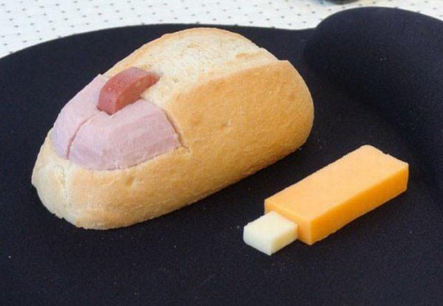 Фото прикол  про еду и компьютерную мышь