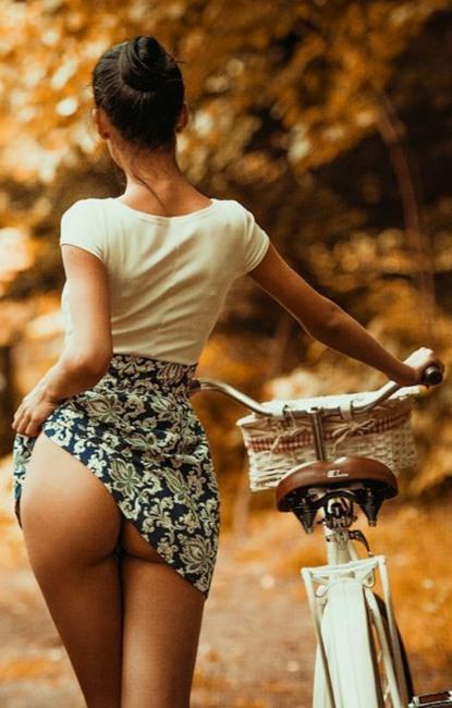 Фото прикол  про велосипедистов, задницу пошлый