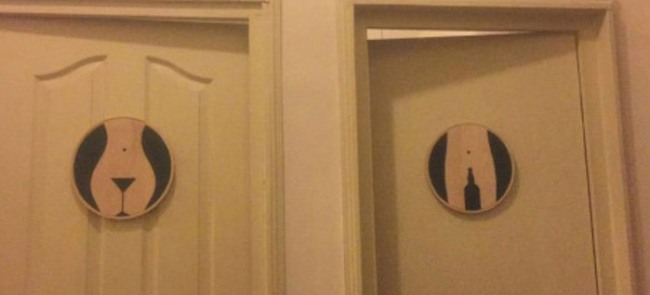Фото прикол  про дверь и туалет