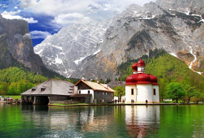 Фото прикол  про озеро и горы