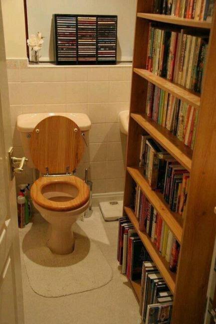 Фото прикол  про туалет и библиотеку