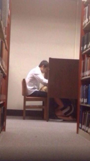 Фото прикол  про библиотеку, минет пошлый