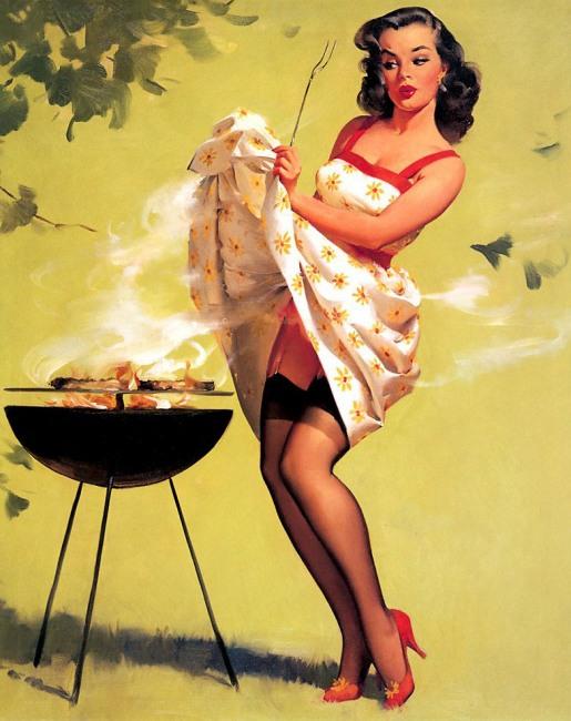 Картинка  про приготовление пищи и эротику