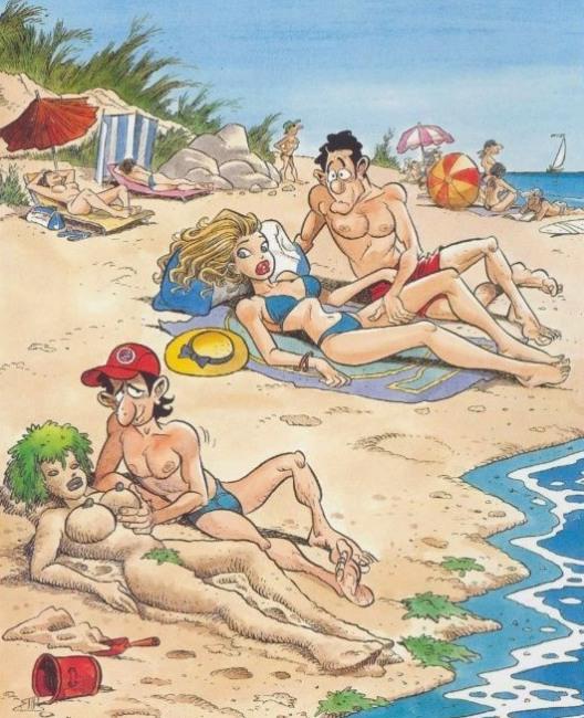 Картинка  про пляж пошлая