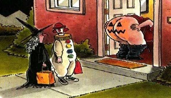 Картинка  про хэллоуин и задницу