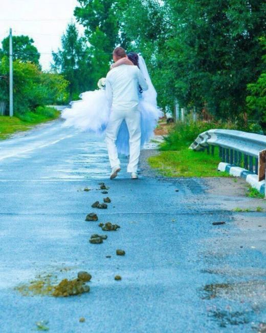 Фото прикол  про невесту и кал
