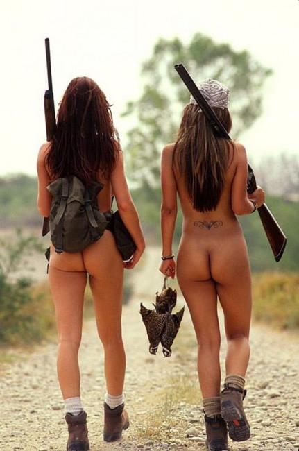 Фото прикол  про задницу, охотников, раздетых людей пошлый