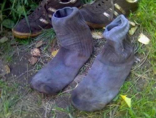 Фото прикол  про носки отвратительный