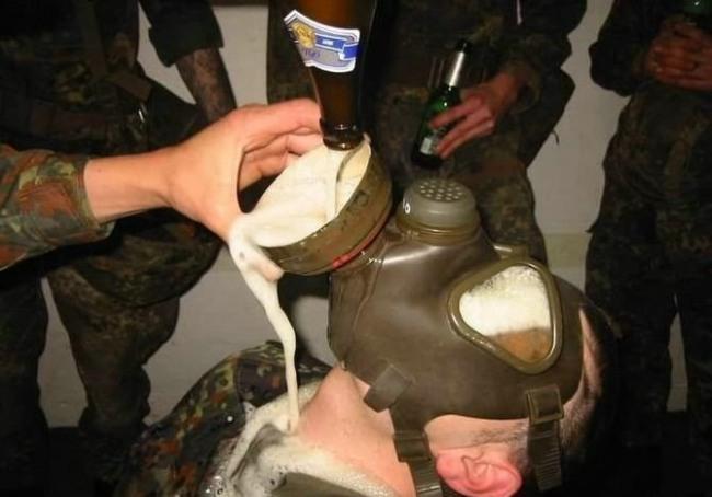Фото прикол  про армию и пиво