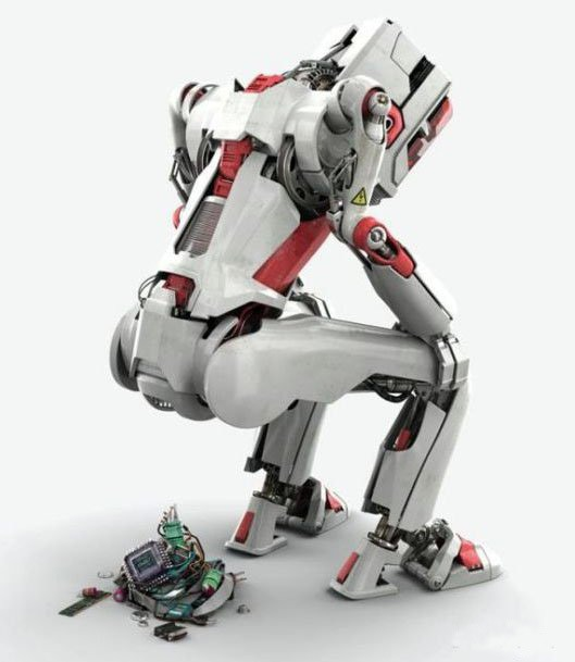 Фото прикол  про роботов и дефекацию