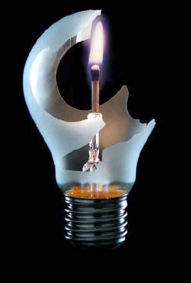 Фото прикол  про лампочку