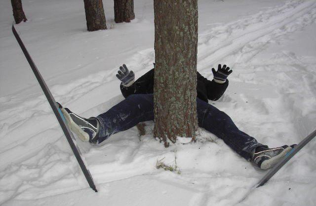 Фото прикол  про лыжников