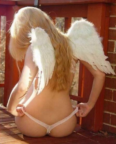 Фото прикол  про ангелов пошлый