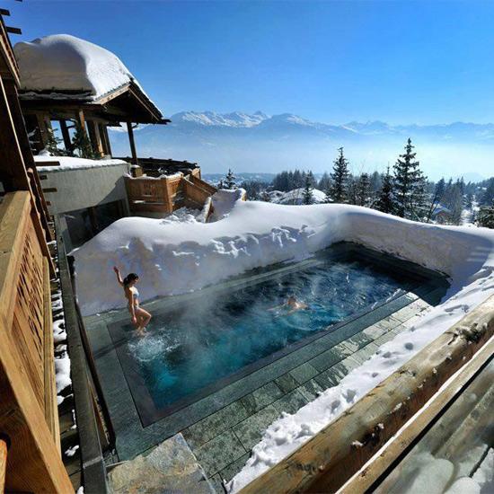 Фото прикол  про бассейн и зиму