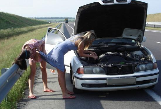 Фото прикол  про женщин за рулем пошлый