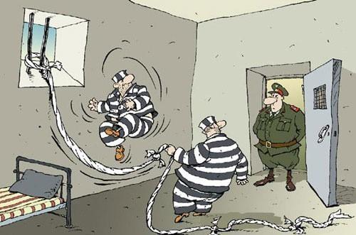 Картинка  про тюрьму и арестантов
