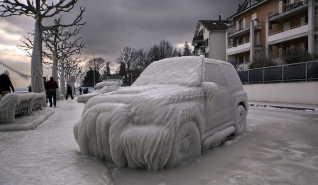 Фото прикол  про автомобили и зиму