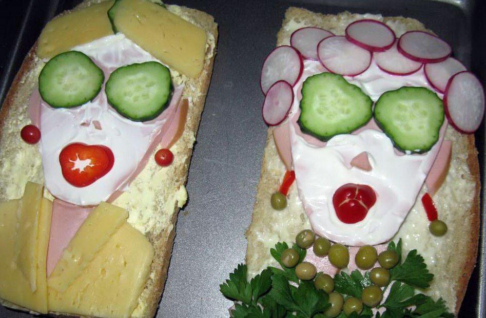 Прикольных, картинки бутербродов смешные