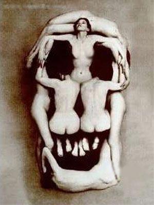Фото прикол  про череп, раздетых людей пошлый