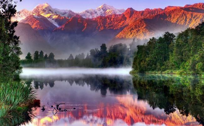 Фото прикол  про природу, горы и восход