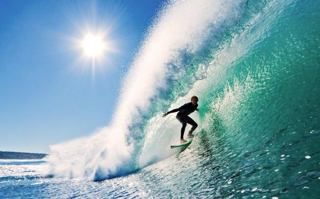 Фото прикол  про серфинг и волну