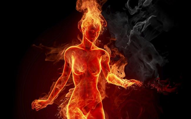 Фото прикол  про женщин, огонь, интимный пошлый