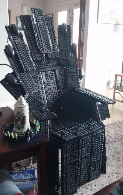 Фото прикол  про клавиатуру и кресло