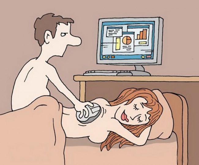 Картинка  про массаж и компьютерную мышь