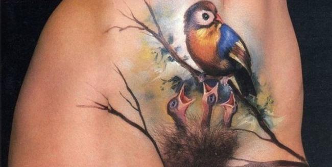 Фото прикол  про татуировку, лобок, интимный пошлый