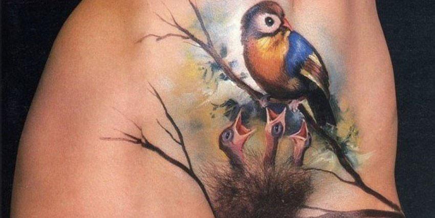 татуировки на лобке фото