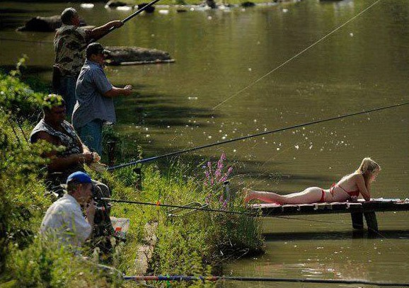 Фото прикол  про рыбалку и клев