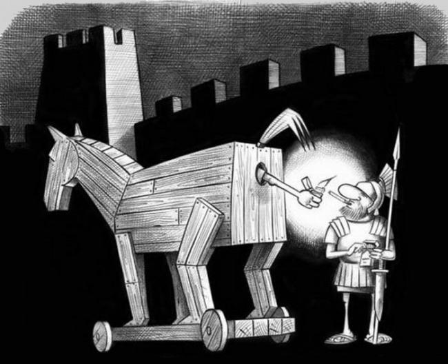 Картинка  про троянского коня
