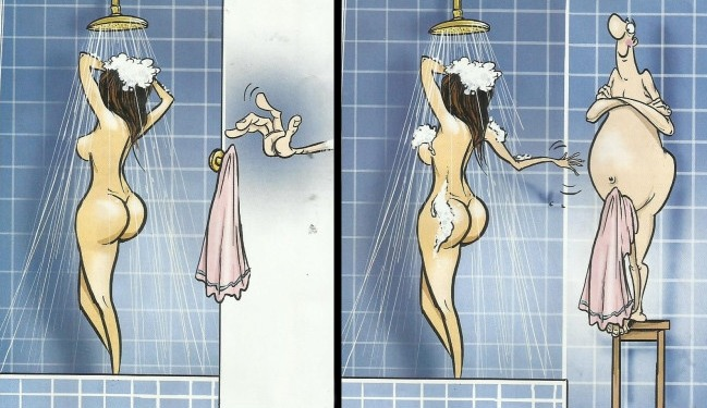 Картинка  про душ пошлая