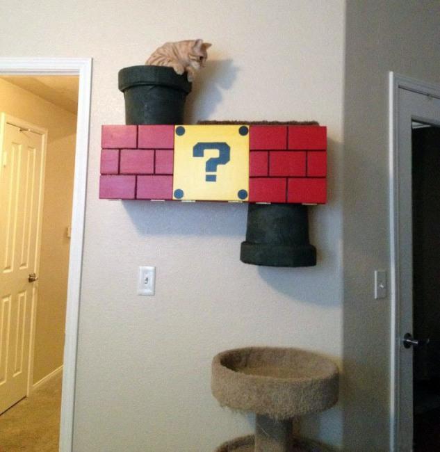Фото прикол  про котов и супер марио