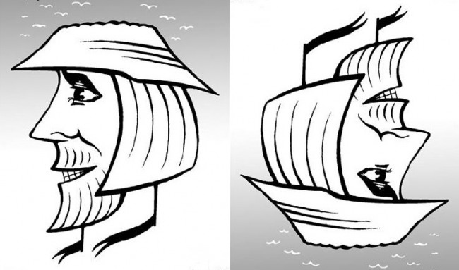 Картинка  про лицо и корабли